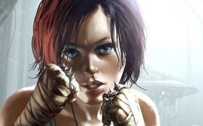 Картинка девушка, кулаки, Neuroshima, Tomasz Jedruszek