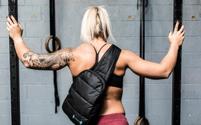 Картинка sport, lifestyle, tattoo, blonde, backpack
