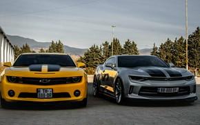 Картинка Chevrolet, Camaro, georgia, old, new, Orang, Silver, tbilisi, best cars