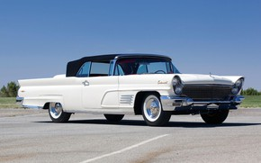 Картинка 1960, Classic, White, Convertible, Lincoln Continental, Mark V