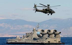 Картинка корабль, Греция, десантный, Corfu