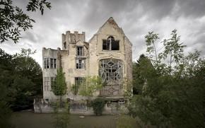 Картинка природа, дом, руины