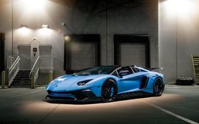 Картинка Lamborghini, Light, Blue, Aventador, VAG