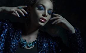 Картинка девушка, стиль, гламур, руки, макияж, украшение, Raisa Kanareva