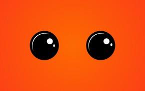 Картинка глаза, взгляд, оранжевый, текстура