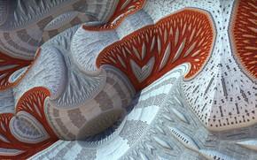 Картинка макро, поверхность, узор, 3д графика
