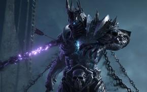 Картинка Цепи, Lich King, Blizzard Entertainment, World Of Warcraft, Король-лич, Highlord Bolvar Fordragon, Высший Лорд Болвар …
