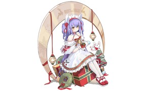 Картинка girl, Christmas, anime, beautiful, pretty, attractive, handsome, Dewey, Azur Lane