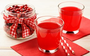 Картинка ягоды, еда, стаканы, напиток, фреш, кизил