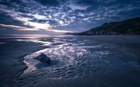 Картинка Море, Вечер, Отлив