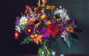 Картинка цветы, букет, ваза