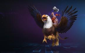 Картинка Blizzard, WarCraft, Mr--Jack, Wildhammer Thane, Falstad, World of WarCraft, Gryphon, Mr Jack, by Mr Jack, ...