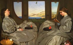 Картинка 1862, Путешествующие компаньонки, Август Леопольд Эгг