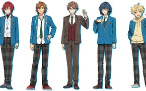 Картинка парни, школьная форма, персонажи, ученики, Ensemble Stars!, Ансамбль звёзд
