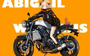 Картинка мишка, мотоцикл, девочка, Fate / Grand Order, Судьба великая кампания