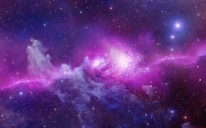 Картинка pink, stars, galaxy