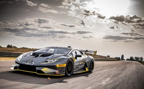 Картинка скорость, Lamborghini, гоночное авто, 2018, Huracan, Super Trofeo Evo