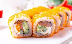 Картинка икра, суши, роллы, начинка