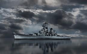 Картинка Battleship, BB-62, USS New Jersey, USNavy