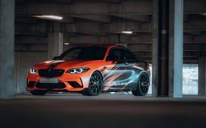 Картинка тюнинг, купе, гараж, BMW, колонны, 2020, F87, M2, BMW M2, M2 Competition, JMS Fahrzeugteile
