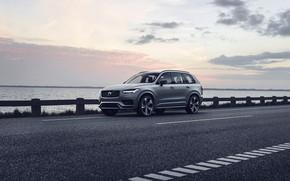Картинка закат, вечер, Volvo, XC90, кроссовер, R-Design, Twin Engine, 2019, T8