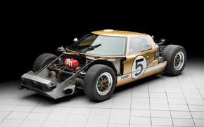Картинка Ford, 1966, 24 Hours of Le Mans, 24 часа Ле-Мана, GT40, Спорткар, Sports car, Радиатор, …