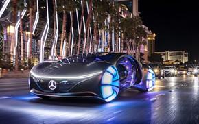 Картинка концепт, Vision, электромобиль, 2020, AVTR, Mecedes-Benz