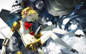 Картинка девушка, парень, киборг, Persona 3