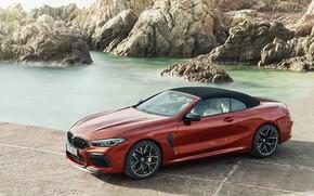 Картинка скалы, BMW, кабриолет, мягкий верх, 2019, BMW M8, M8, F91, M8 Competition Convertible, M8 Convertible