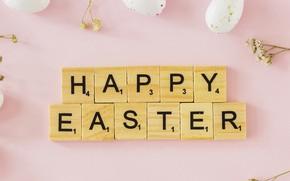 Картинка праздник, кубики, яйца, Пасха, Easter