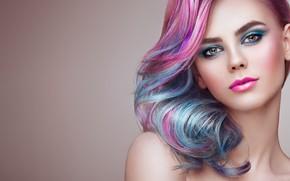 Картинка девушка, улыбка, стиль, модель, макияж, girl, color, фотограф Oleg Gekman