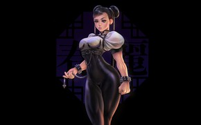 Картинка Girl, Sexy, Asian, Background, Illustration, Street Fighter, Chun-Li, Minimalism, Figure, Chun li, Sarah C