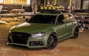 Картинка Audi, Тюнинг, Tuning, RS6, Audi RS6 Sportback Army Green by RACE on ADV.1 Whe