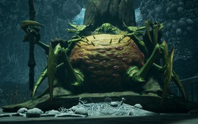 Картинка монстр, кости, насекомое, Darksiders III