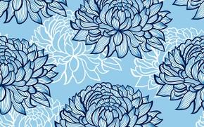 Картинка синий, фон, Цветок, Текстура, Абстрактный