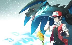 Картинка парень, пикачу, Покемон, Pokemon, Чаризард