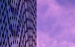 Картинка небо, здание, минимализм