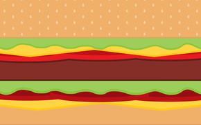 Картинка еда, minimalism, food, бургер, burger