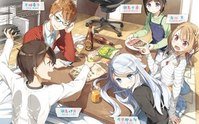Картинка стол, друзья, персонажи, Imouto sae Ireba Ii