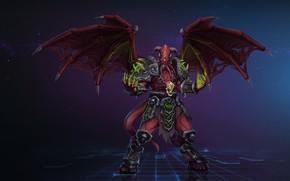 Картинка WOW, Fantasy, Blizzard, Арт, WarCraft, Demon, Characters, Game Art, Demon Lord, by Kazbek Dzasezhev, Kazbek ...