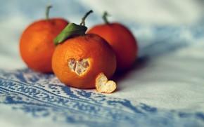 Картинка листик, сердечко, кожура, мандарины