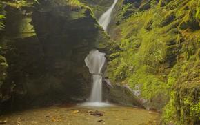 Картинка скалы, водопад, Австрия