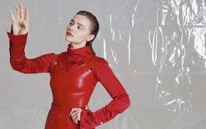 Картинка взгляд, девушка, поза, фото, платье, Chloe Grace Moretz