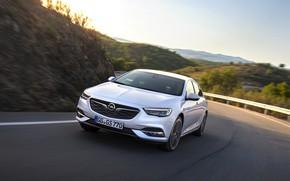 Картинка дорога, белый, Insignia, Opel, Insignia Grand Sport