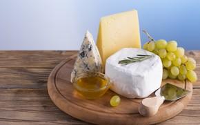 Картинка сыр, виноград, мёд, дор блю, Cheese, сыр с плесенью, Dorblu, благородный сыр