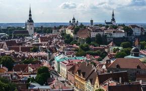 Картинка небо, здания, Эстония, Таллин
