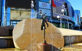 Картинка Фонтан, Скульптура, Меркурий, Бизнес-центр, Волгоград, Volgograd, Mercury center
