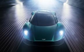 Картинка машина, свет, Aston Martin, спорткар, Vanquish, Vision concept