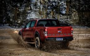 Картинка брызги, Ford, грязь, сзади, пикап, Storm, Ranger, 2020