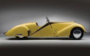 Картинка Bugatti, Classic, Хром, 1935, Classic car, Gran Turismo, Type 57, Bugatti Type 57 Grand Raid …